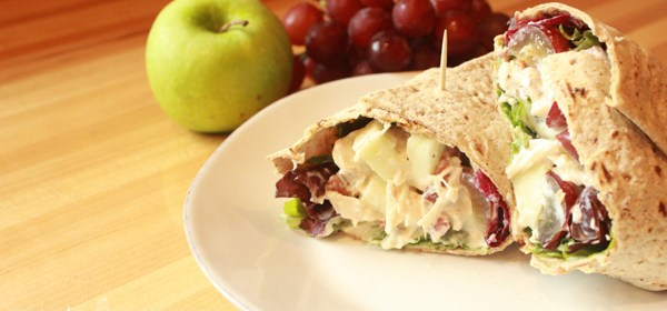 Chicken Salad Wrap With Apple & Bacon: Wrap It Up Wednesday