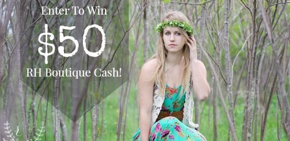 GIVEAWAY! Win $50 RH Boutique Cash!