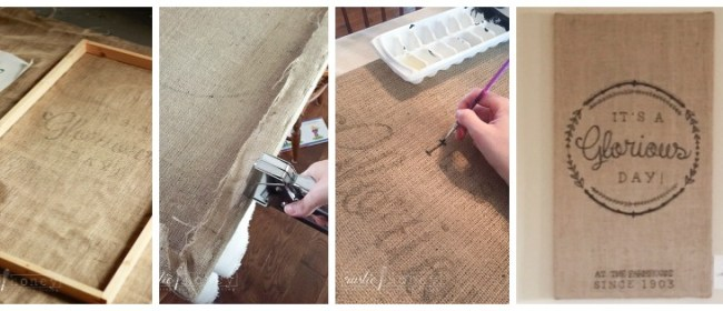 Burlap Canvas Print DIY