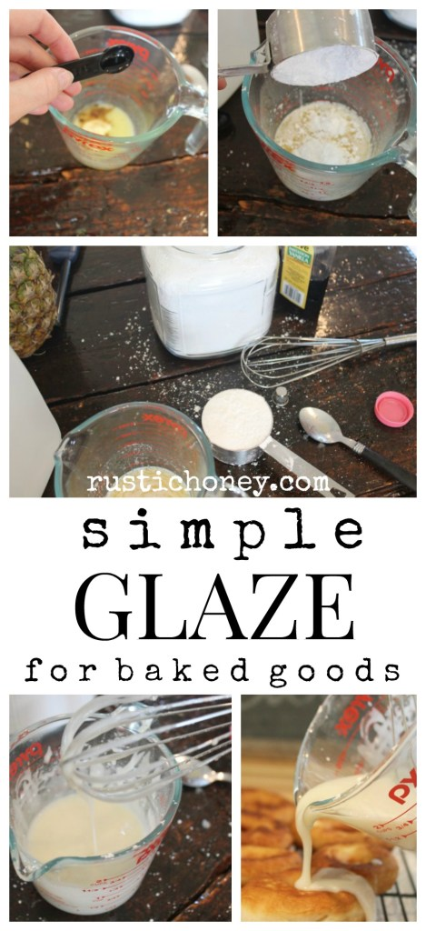 easy icing glaze for baked goods