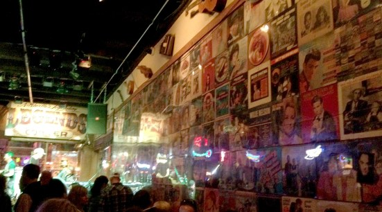 I loved looking at all of the old record covers on the wall.