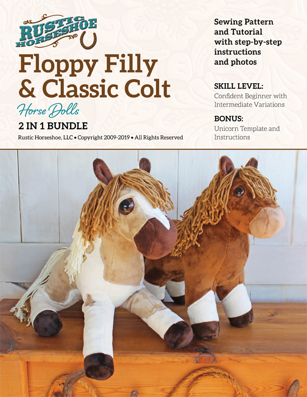 Stuffed Horse Pattern : stuffed, horse, pattern, Floppy, Filly, Classic, Plush, Horse, Sewing, Pattern, Tutorial