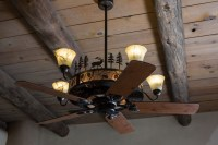 Cedarcrest Chandelier Ceiling Fan  Rustic Lighting and Fans