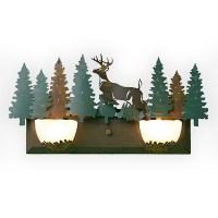 Avalanche Ranch Lighting Halogen Double Bath Vanity Series ...