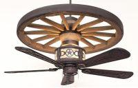 Sheridan Wagon Wheel Ceiling Fan - Rustic Lighting and Fans