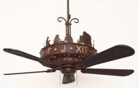 Copper Canyon Western Trails Ceiling Fan - Rustic Lighting ...