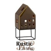 windlicht huis modern porselein bruin