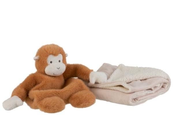 Oscar aapje met deken pluch babykamer jungle