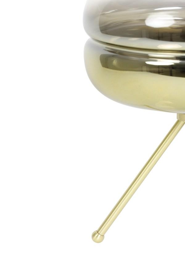 tafellamp cherle goud glas metaal goud 3 poot