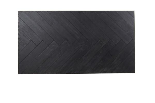 Salontafel chisa metaal antiek brons hout zwart