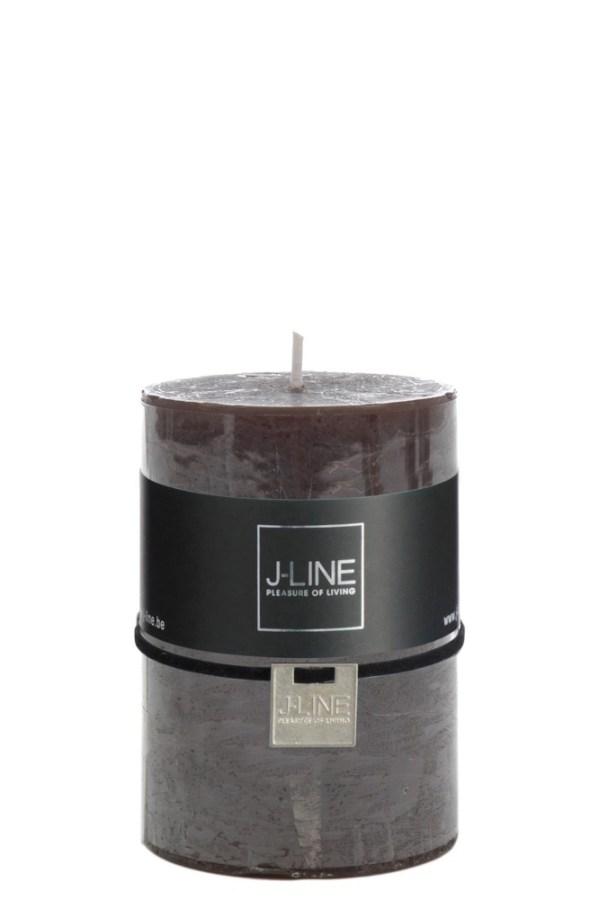 Cilinderkaars Bruin/Zwart M 48h