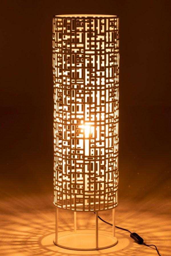 Staanlamp Rond Metaal Wit Large