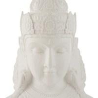 Hoofd Boeddha Magnesium Wit Large