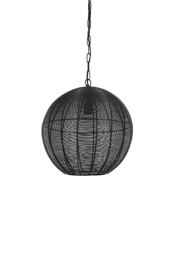 hanglamp amarah mat zwart metaal 40cm