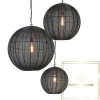 hanglamp metaal mat zwart amarah 40cm 50cm 60cm