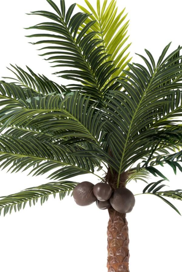 Palmboom 4kokosn In Pot Plastiek Groen