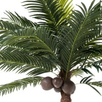Palmboom 4kokosn In Pot Plastiek Groen