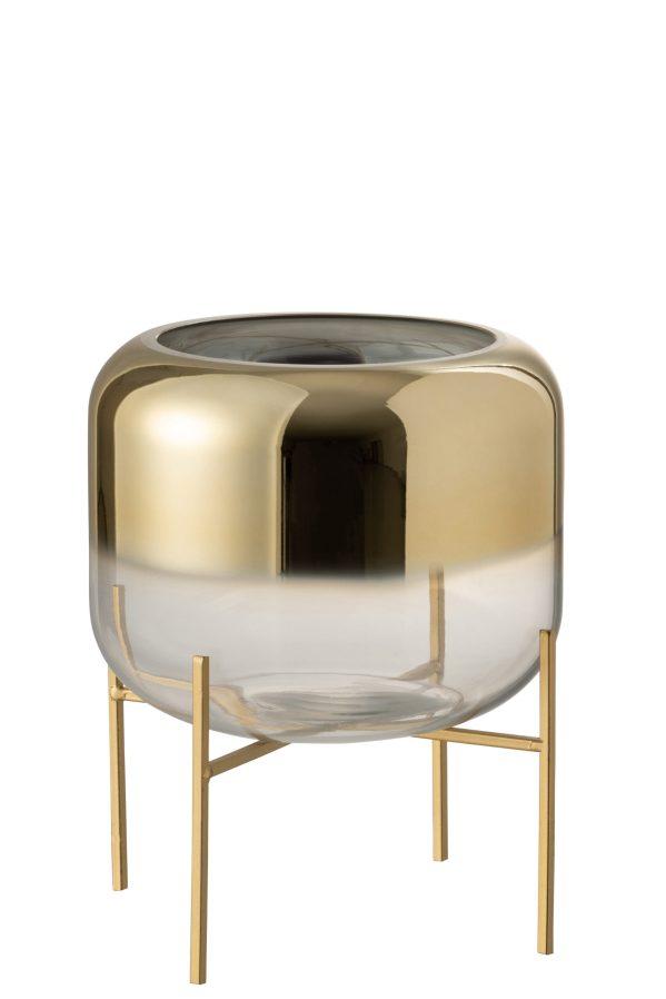 Vaas Oceanne Glas Goud Transparant Small