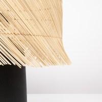 Tafellamp BOHO rotan terracotta mat zwart