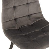Barstoel Olivier Textiel fluweel Metaal Grijs