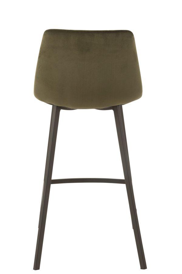 Barstoel Olivier Textiel fluweel Metaal Donker Groen