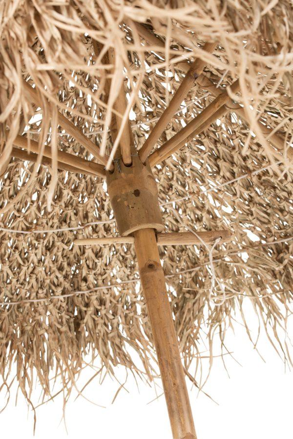 Parasol Op Voet Bamboe Naturel
