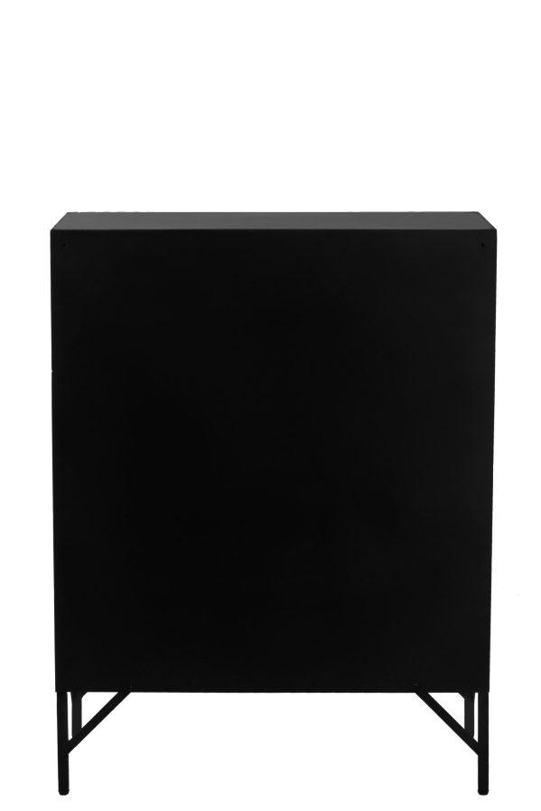 lockerkast zwart slijtage look metaal