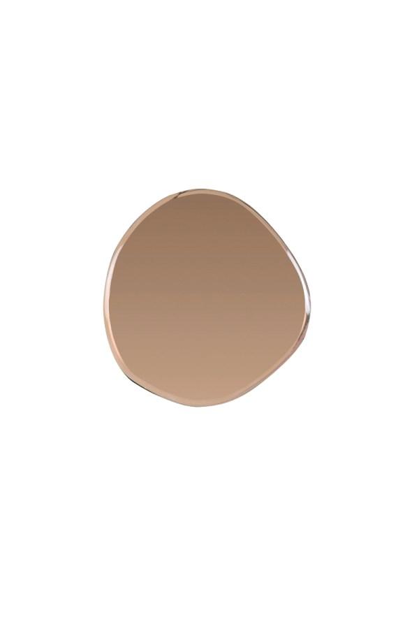 Spiegel Vido koper bruin glas oneven omranding S