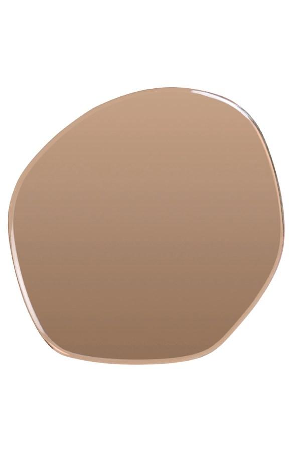 Spiegel Vido koper bruin glas oneven omranding XL