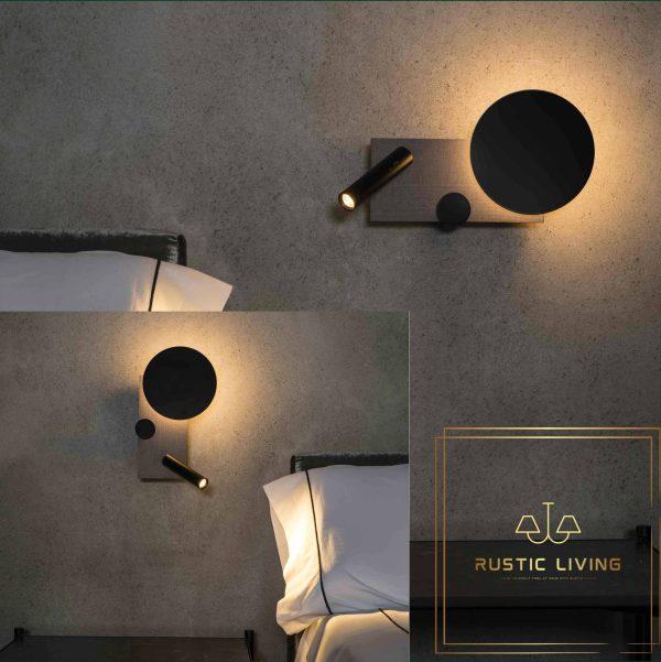 Faro Klee Led design lamp wandlamp met leeslamp grijs links en recht
