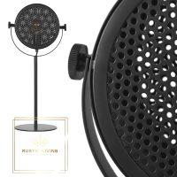 Tafellamp Muse retro microfoon metaal zwart