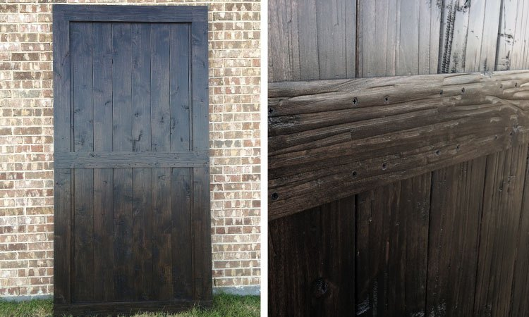 center brace sliding barn door Dallas