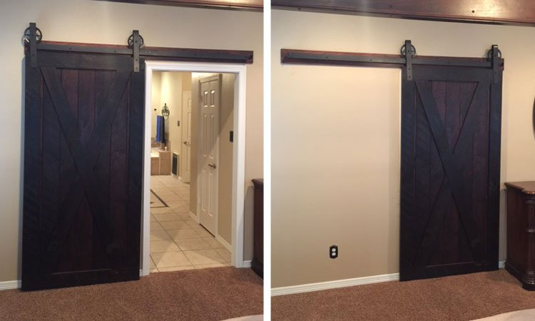McKinney full x brace sliding barn door