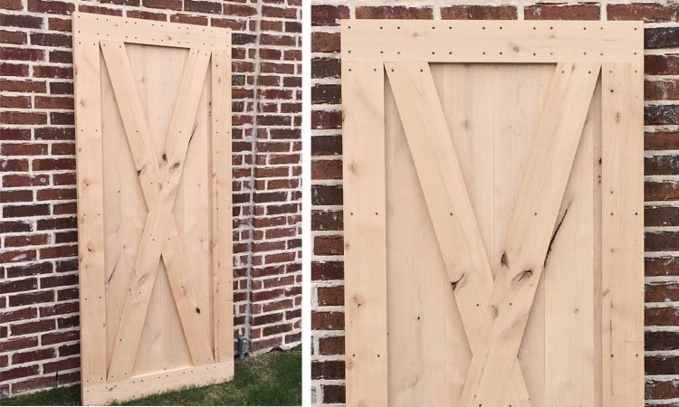 full x brace barn door Plano Tx