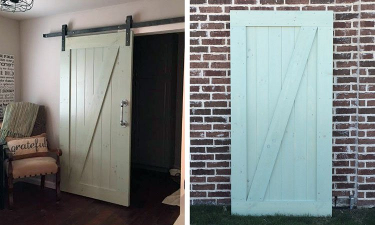 Driftwood Single Angle Brace Barn Door