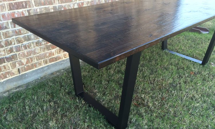 Hand Scraped Modern Table