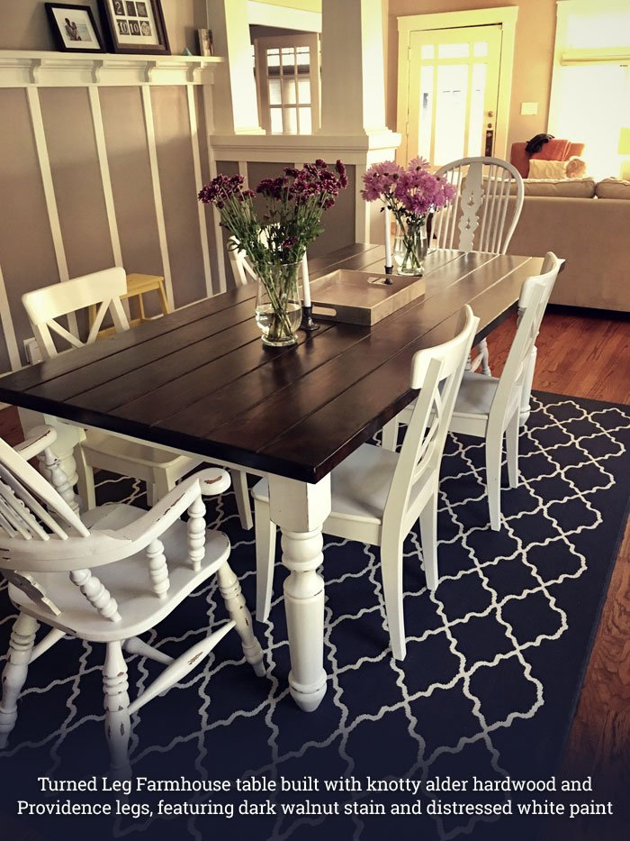 Incredible Turned Leg Farmhouse Tables Gmtry Best Dining Table And Chair Ideas Images Gmtryco