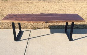 Natural Live Edge Table | Custom Live Edge Dining Table Dallas
