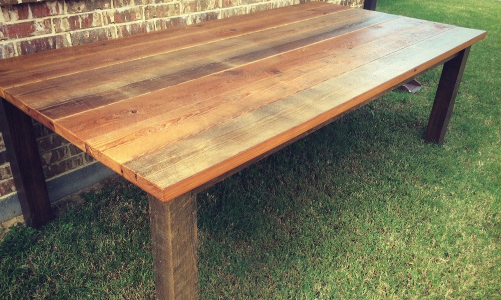 Reclaimed Classic Farmhouse Table | Farmhouse Furniture Builder Frisco