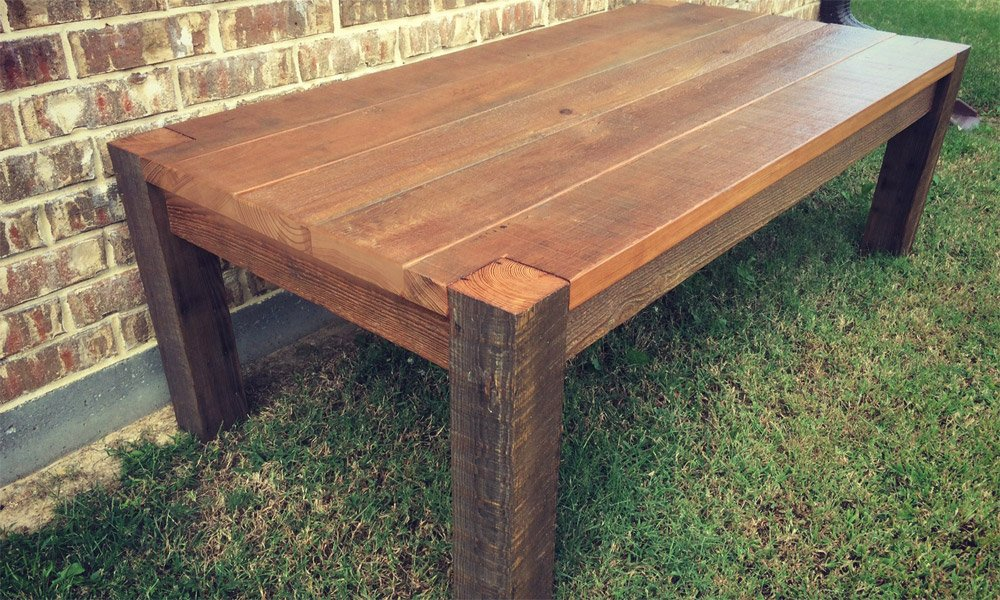 Custom Reclaimed Coffee Table | Reclaimed Wood Furniture Frisco