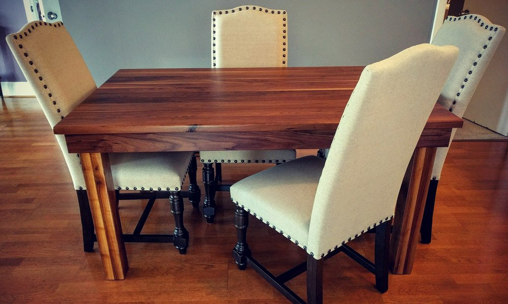 Classic Black Walnut Farmhouse Table