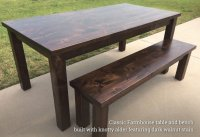 Classic Farmhouse Tables - Rustic + Modern Handcrafted ...