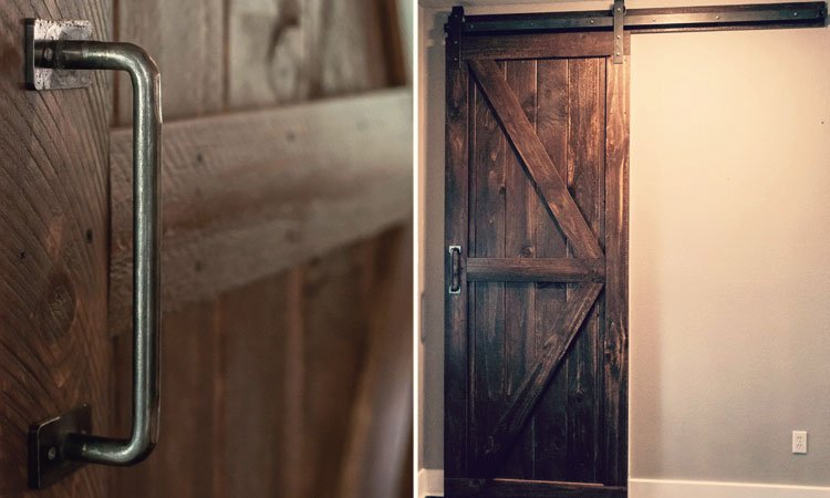 Double Angle Brace Barn Door | Custom Wood Barn Doors Celina