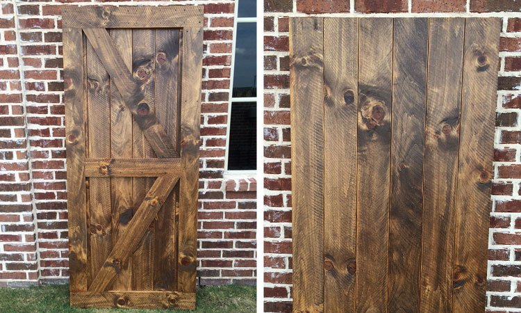 Rustic Double Angle Brace Barn Door