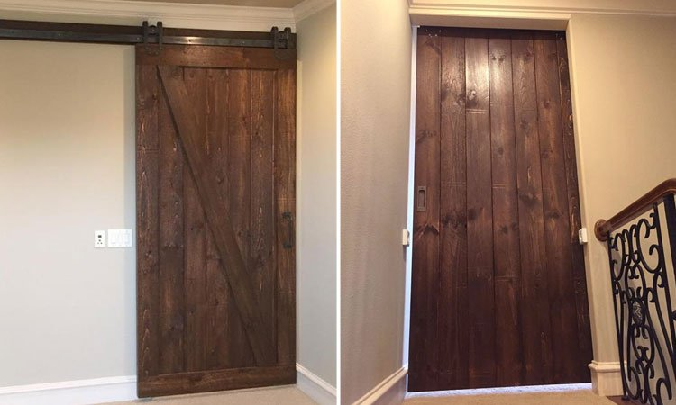 Single Angle Brace Barn Door