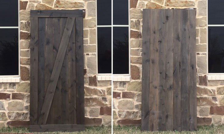 Single Angle Brace Barn Door | Handmade Barn Doors Near Me
