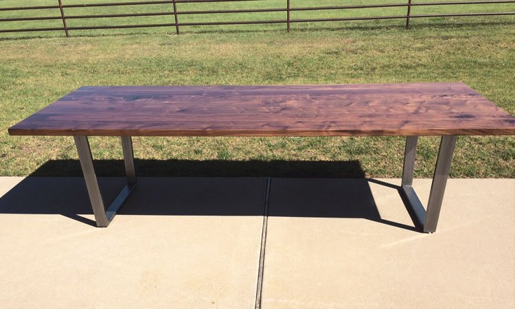 Hardwood & Steel Table | Custom Industrial Style Table Southlake