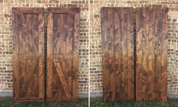 Double Angle Brace Barn Doors | Handmade Barn Doors Near Me