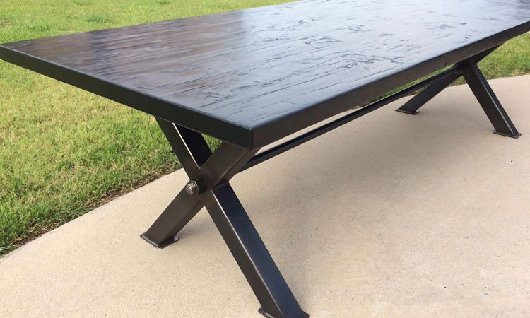 Hardwood & Steel Table | Custom Wood Dining Table Frisco Tx