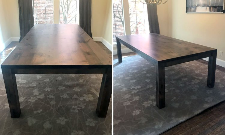Reclaimed Finish Classic Farmhouse Table